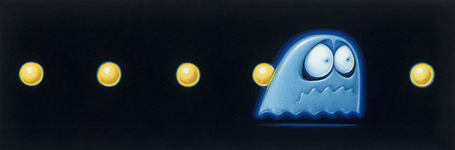Blue pacman ghost